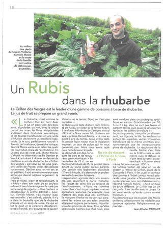 Article Moine Est magazine juin 2010